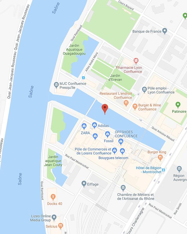 Place Nautique de Lyon Confluence 69002 LYON